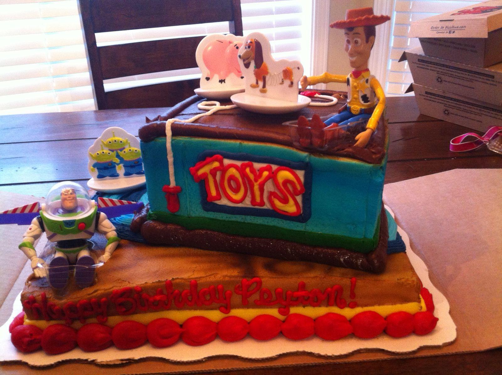 Remarkable Peytons Toy Story Birthday Cake Walmart Toy Story Birthday Personalised Birthday Cards Arneslily Jamesorg