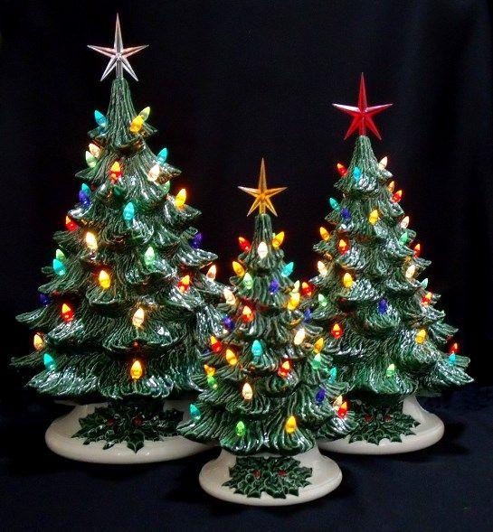 22 best Ceramic Christmas Trees images on Pinterest | Ceramic ...