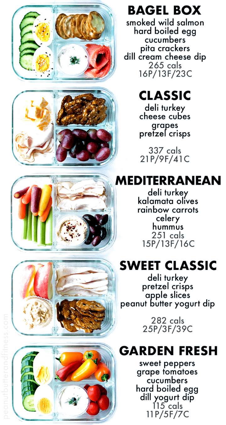 Bento Box Snack Prep Ideas – delicious ideas for meal prepping your snacks! Includes nutrition information and scannable – Carey&CleanEatingS