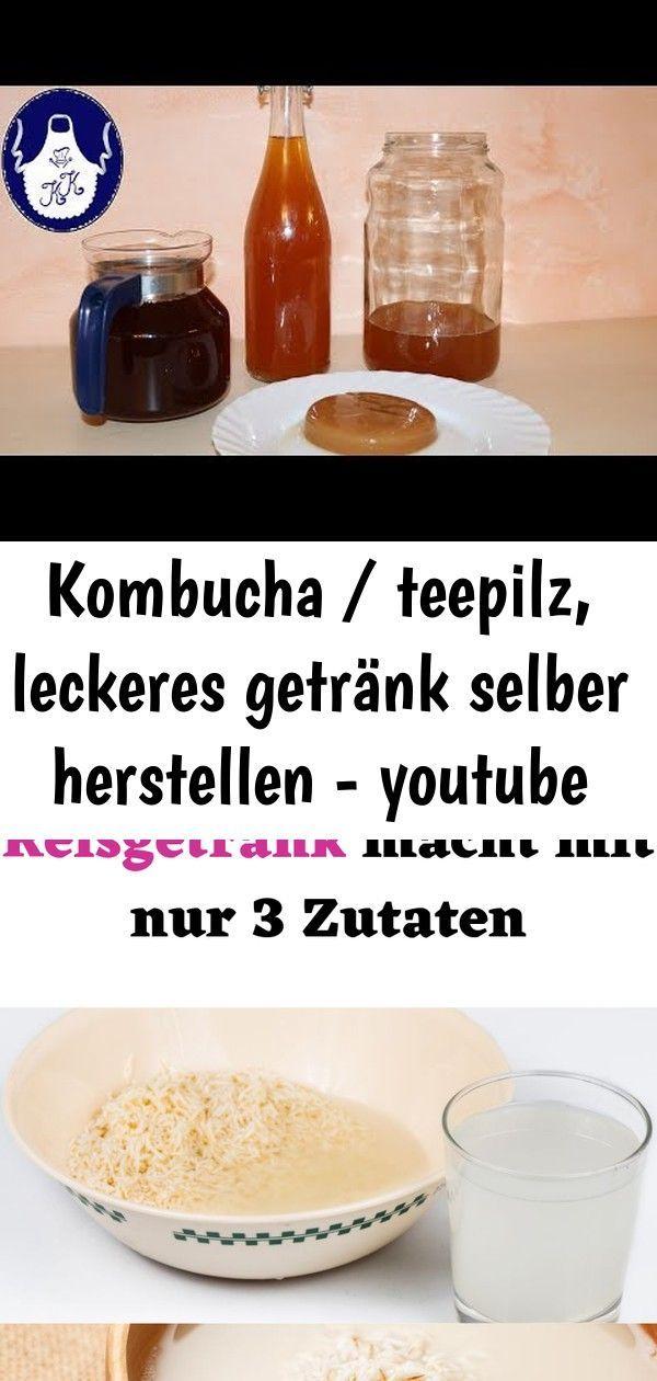 Kombucha / teepilz, leckeres getränk selber herstellen - youtube #kombuchaselbermachen Kombucha / Teepilz, leckeres Getränk selber herstellen - YouTube Wie man ein hausgemachtes Reisgetränk macht mit nur 3 Zutaten #hausgemachtes  #Reisgetränk #getränk Einfach zu Tragen Milch und Getränk Handel Getränkehalter für Wonderful eNwrg #Babyartikel #kombuchaselbermachen
