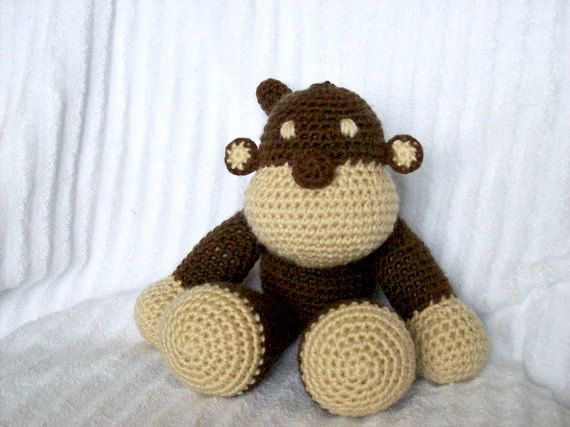 Hey, I found this really awesome Etsy listing at https://www.etsy.com/listing/184261562/crochet-monkey-stuffed-animal-in-brown