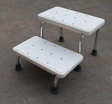 Medical Shower 2 Step White Stool 41x51x29cm Heavy Duty Elderly Shower Seat Step Stool White Stool