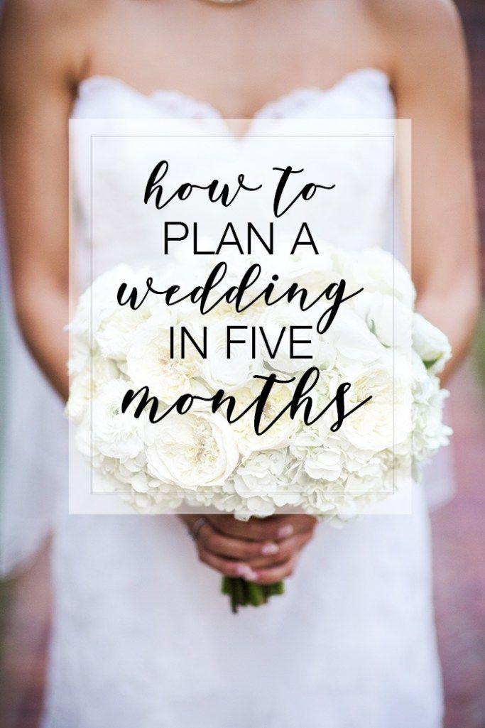 Photo of Cómo planificar una boda en 5 meses.