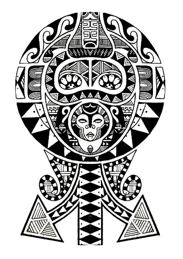 coloring tatouage polynesien