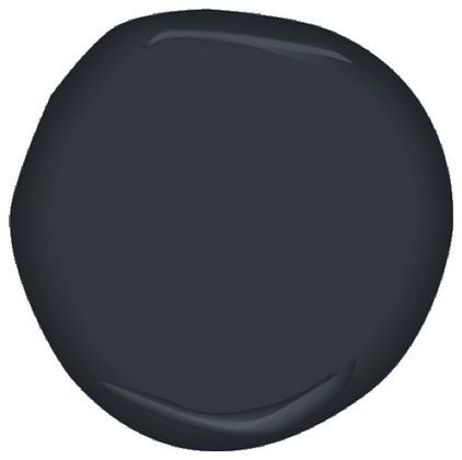 Benjamin Moore After Midnight Black With Blue