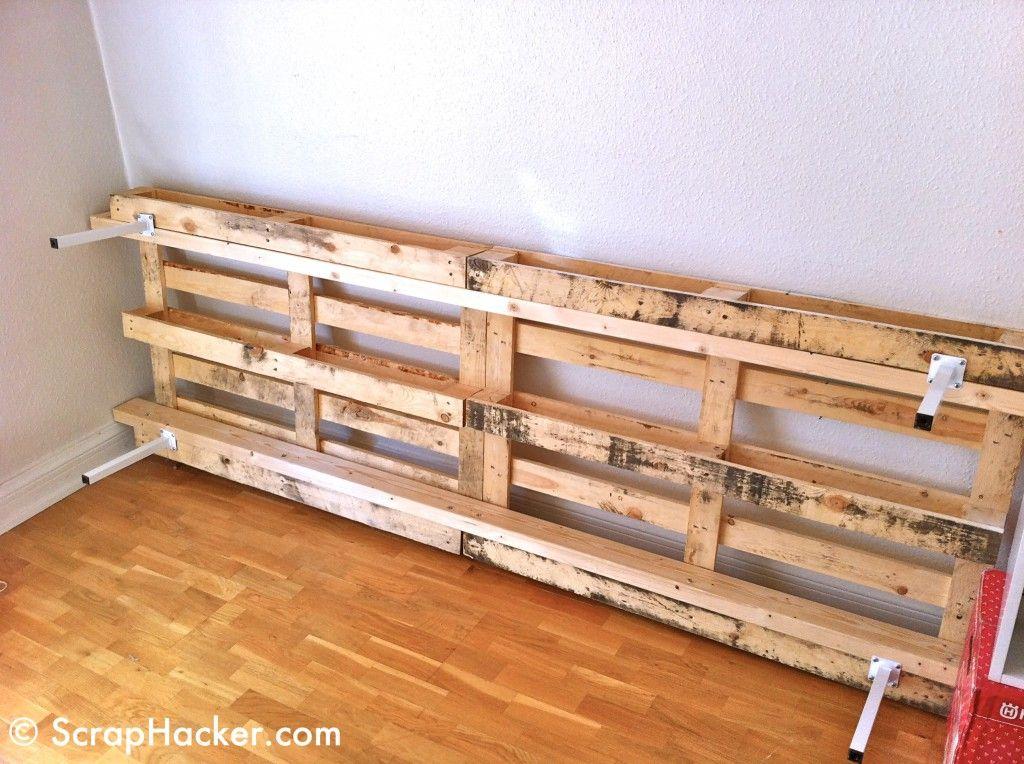 Como hacer una cama de palets paso a paso buscar con - Como hacer un sofa de palets ...