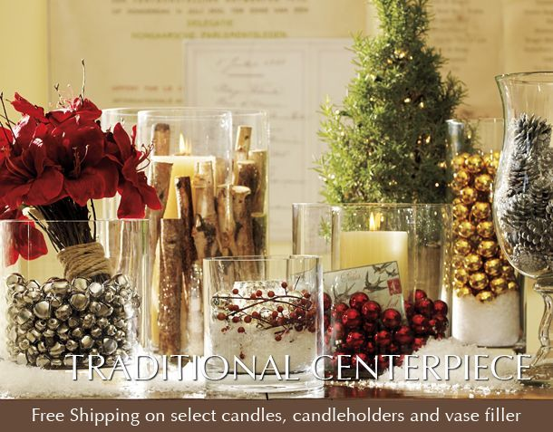 Vase Fillers How To Decorate With A Terrarium Without Plants Christmas Vases Christmas Centerpieces Pottery Barn Christmas