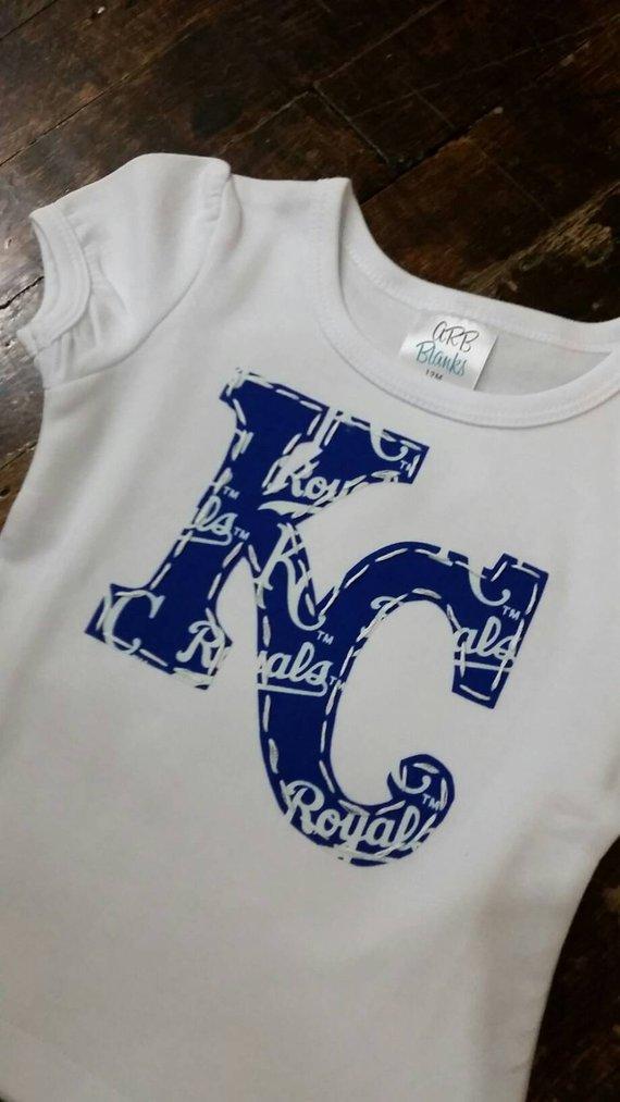 new product c40a5 02a3f Go Royals! Big girl KC shirt, toddler girl, Kansas City ...