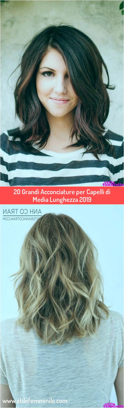 Photo of 20 Grandi Acconciature per Capelli di Media Lunghezza 2019