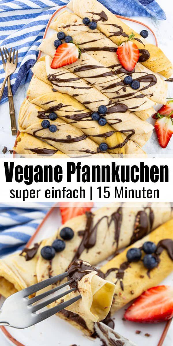 Vegane Pfannkuchen #veganerezepte