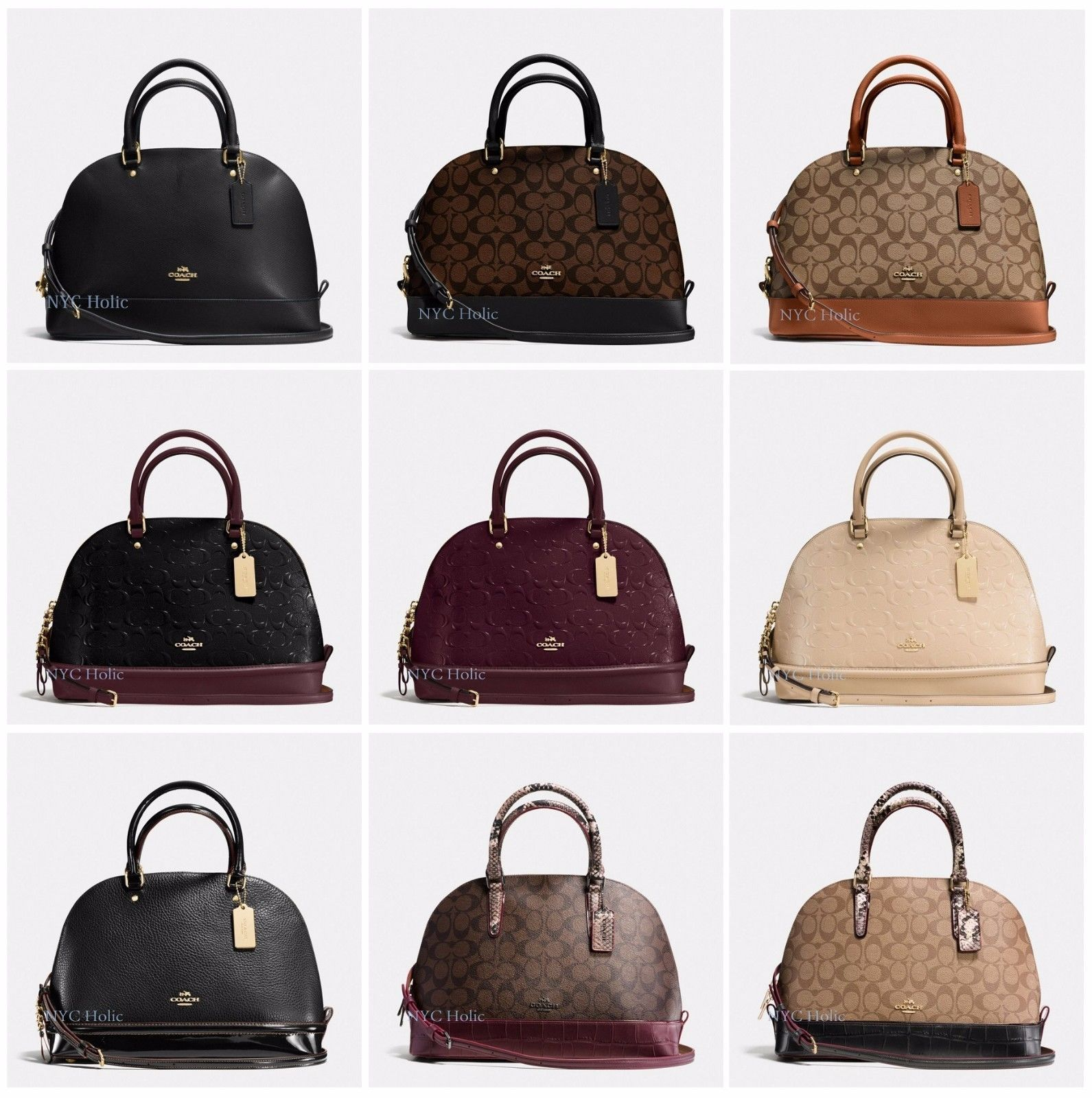 38c88a60bfee Coach Sierra Satchel Dome F55449 F37218 F37233 Signature Debossed Leather