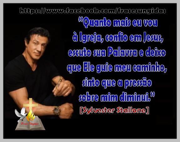 Frase De Sylvester Stallone Frases Cristãs Frases E Bela
