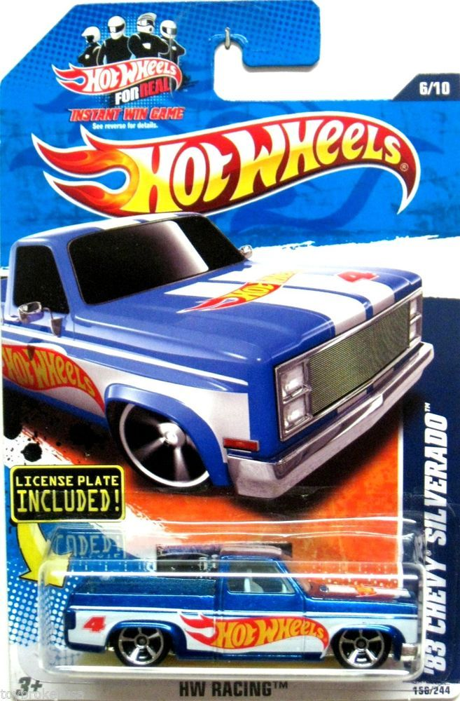 1983 Chevy Silverado Hot Wheels 2010 Hw Racing 166 244 Blue White