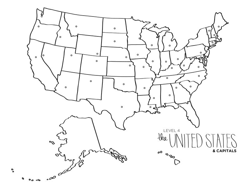 Learn To Draw The United States Blob Map Style Etsy World Map Coloring Page Flag Coloring Pages Coloring Pages Inspirational