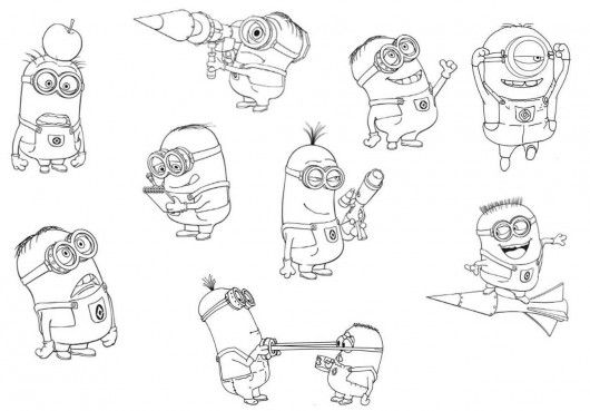 Minions Despicable Me Coloring Pages | Uppis | Pinterest