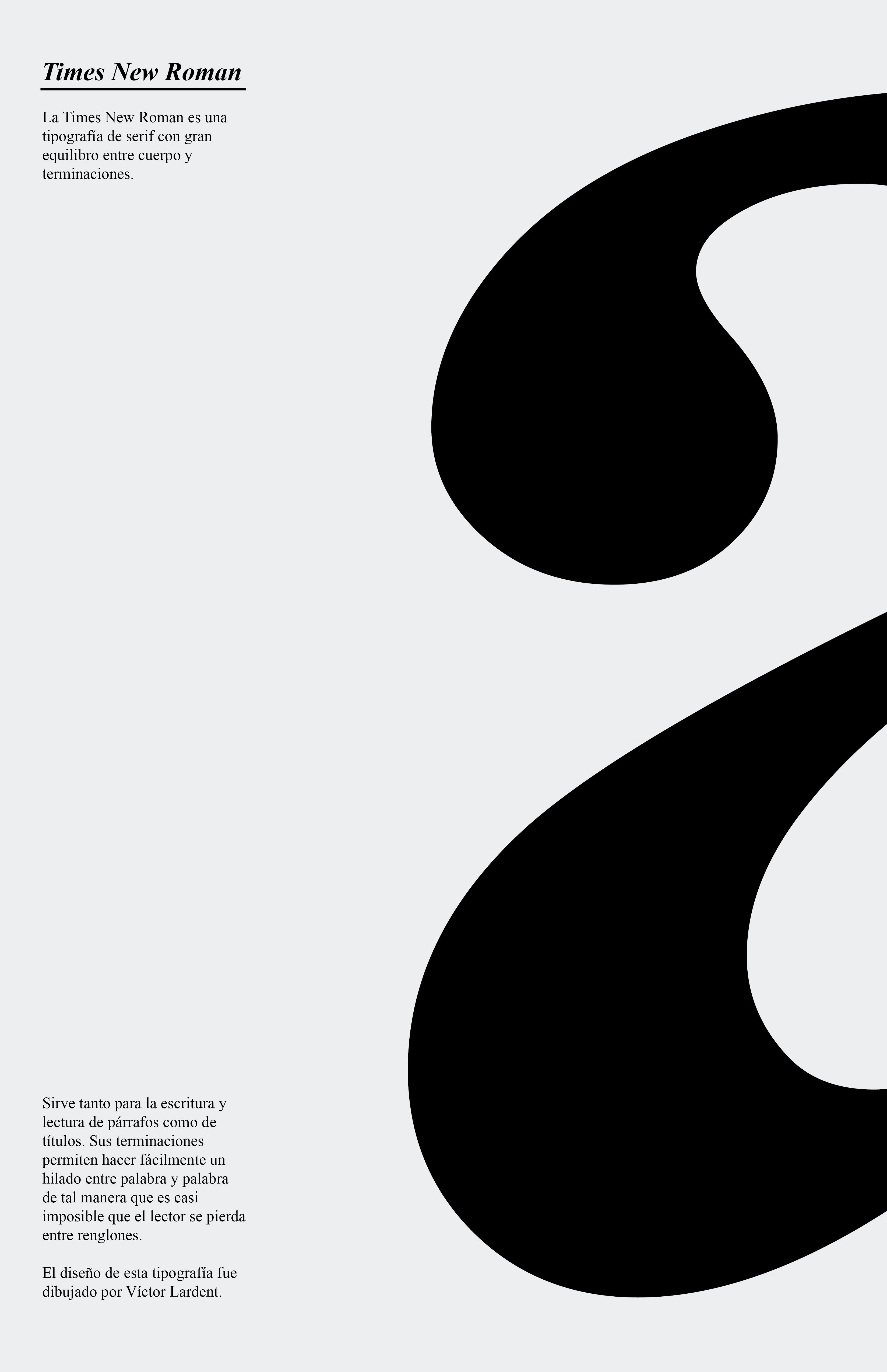 Poster Tipografico De Times New Roman