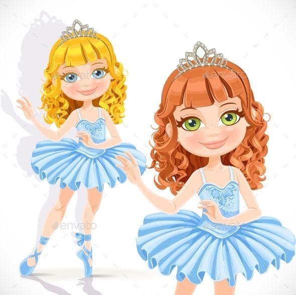 Pretty Dancing Ballerinas IN Pink Tutus and Tiaras Party ...   Ballerina Tiaras Cartoon