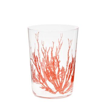 coral glass zara home
