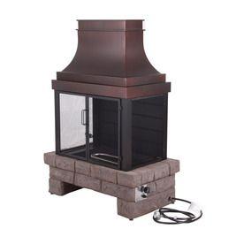 Bond 50 000 Btu Stone Composite Outdoor Liquid Propane Fireplace