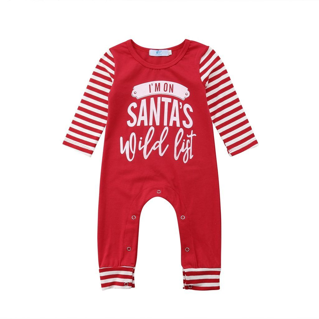 e60367c686d Beautiful Christmas striped jumpsuit Snaps on bottom for easy changing Soft  cotton material