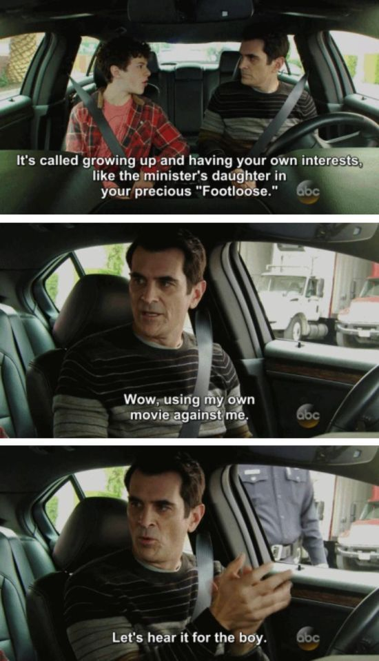 When He Did His Part To Pass Down His Gift To His Son Modern Family Funny Phil Dunphy Family Funny