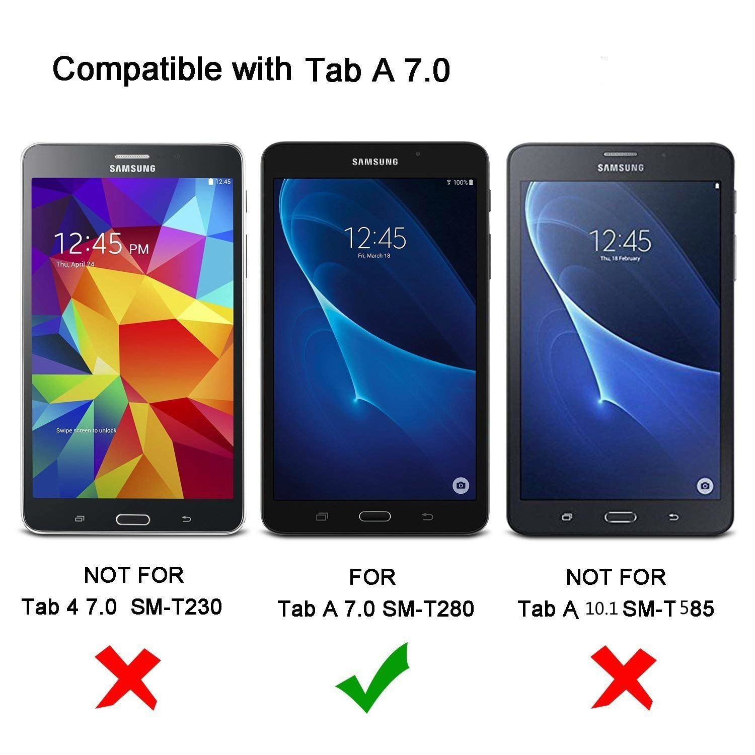 cheap for discount 95532 8440f SM T280 T285 Case cover- Tab A A6 7.Zero inch Extremely Slim Light ...