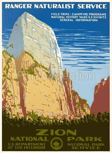 Vintage Zion National Park Poster
