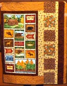 A great quilt for a much loved outdoors man.