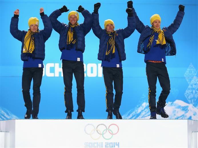 Gold medalists lars nelson daniel richardsson johan for Olimpici scandinavi