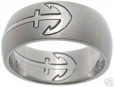 Anchor Ring For Him Anchor Wedding Pinterest Wedding Rings