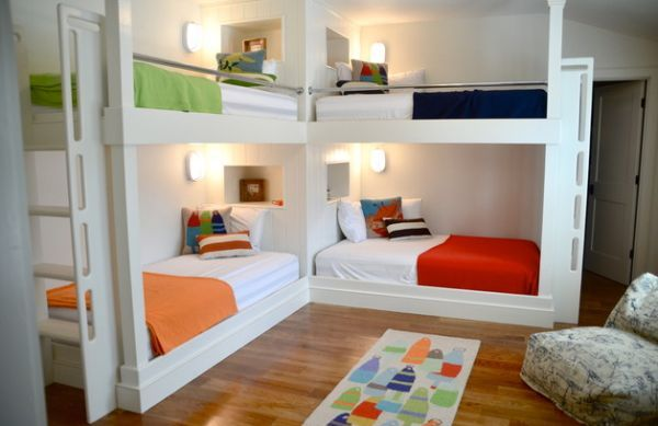 21 Lovely Beach Style Kids Bedroom Design Bunk Bed Designs