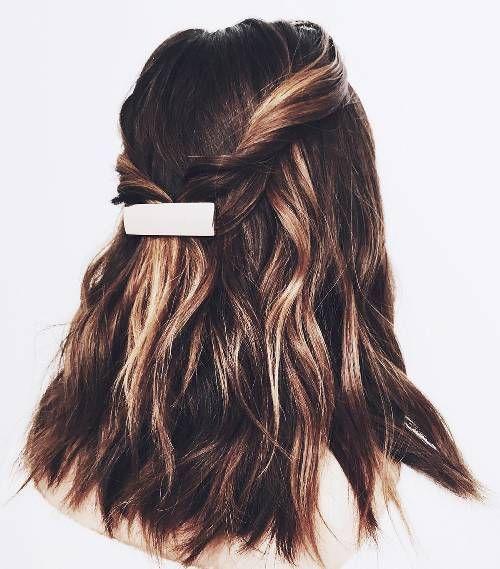 half hairstyles prom lazy hairstyle byrdie days length shoulder bridesmaid