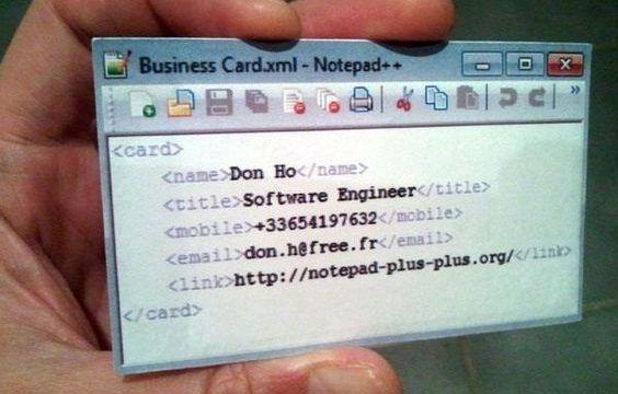Carte De Visite Code Informatique