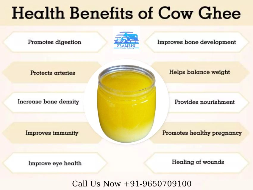 Health Benefits And Nutritional Information Of Cow Milk Ghee Benefits Health Heal Nutrition