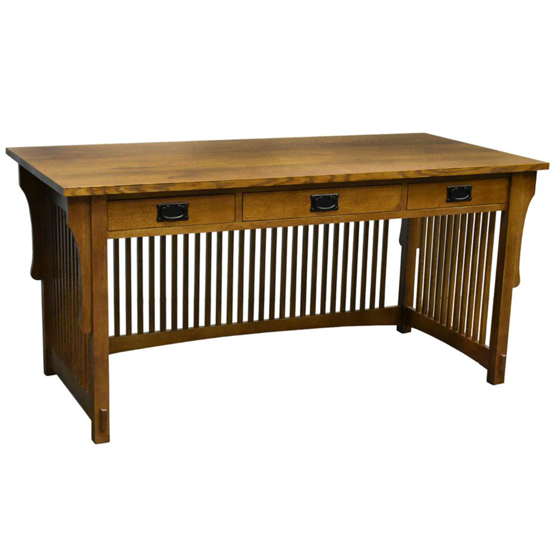 Mission Crofter 3 Drawer Library Desk Library Desk Mission Style Furniture Library Table Desk