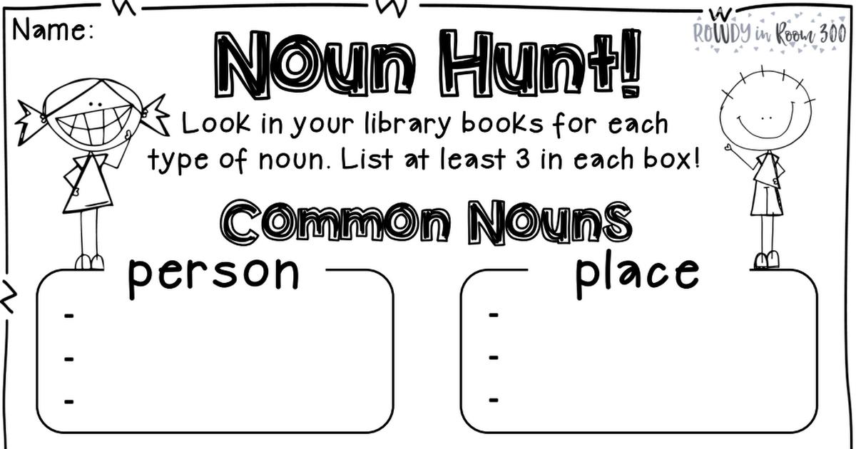 All About Nouns Freebie.pdf Nouns, 3rd grade reading