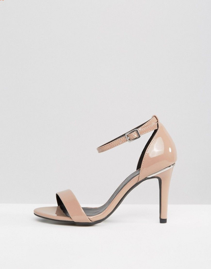 ed85bda269 New Look Wide Fit Patent Barely There Heeled Sandal | Products ...