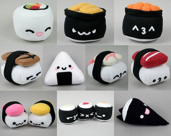 Compilation of 8 Sushi Plushies .pdf Sewing Patterns | wutthe ...