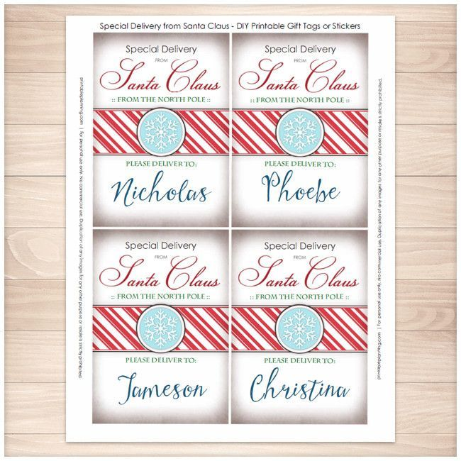Special delivery from santa claus personalized gift tags or special delivery from santa claus personalized gift tags or stickers printable negle Images