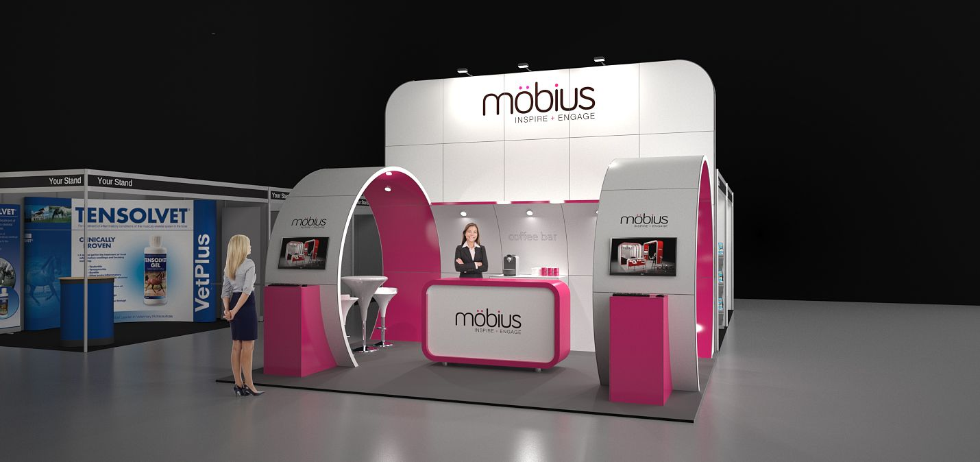 Custom Exhibition Stand Zone : Möbius m modular exhibition stand without the custom