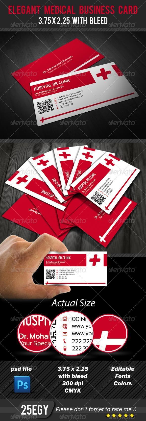Elegant Medical Business Card Medical Business Card Medical Business Business Cards