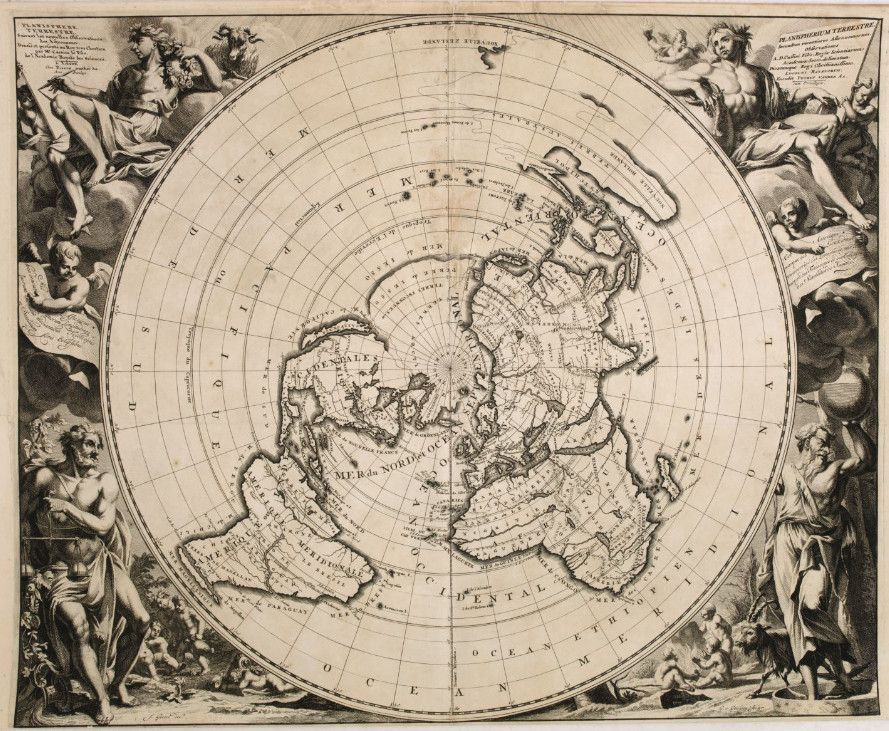 Flat earth Planisphere Terrestre Suivant les nouvelles