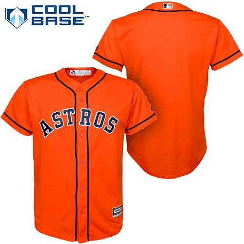 Houston Astros Youth Cool Base Alternate Jersey Astros Jersey Houston Astros