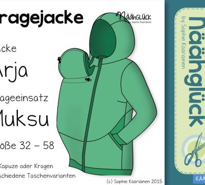 E-Book - Tragejacke Arja & Muksu   DIY und Selbermachen   Pinterest