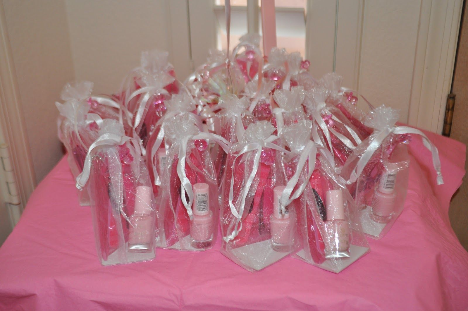 Shower favors using nail polish. Homemade baby shower