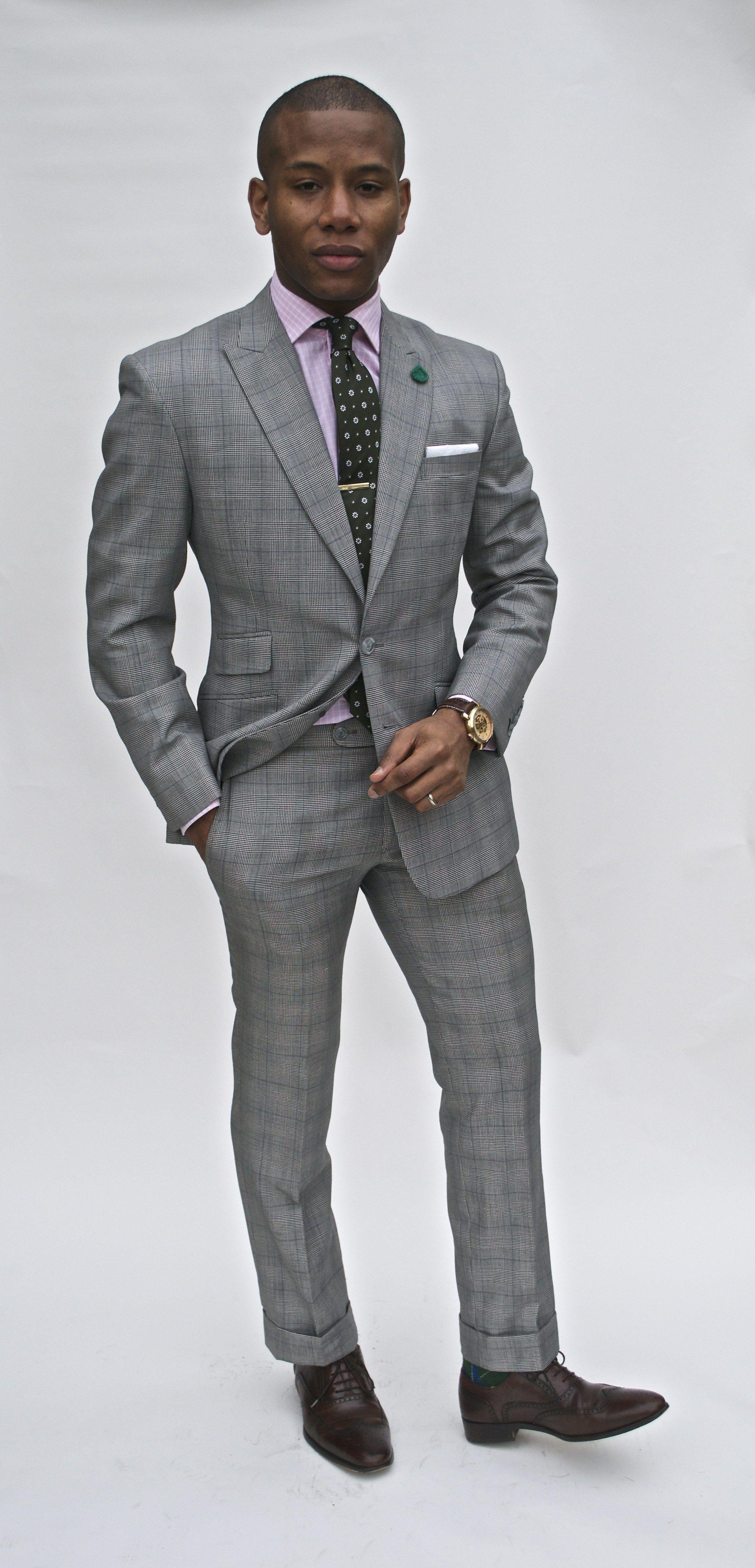 8ef0b2cae9fe3 Glen plaid grey suit | Haberdash | Suits, Custom tailored suits ...