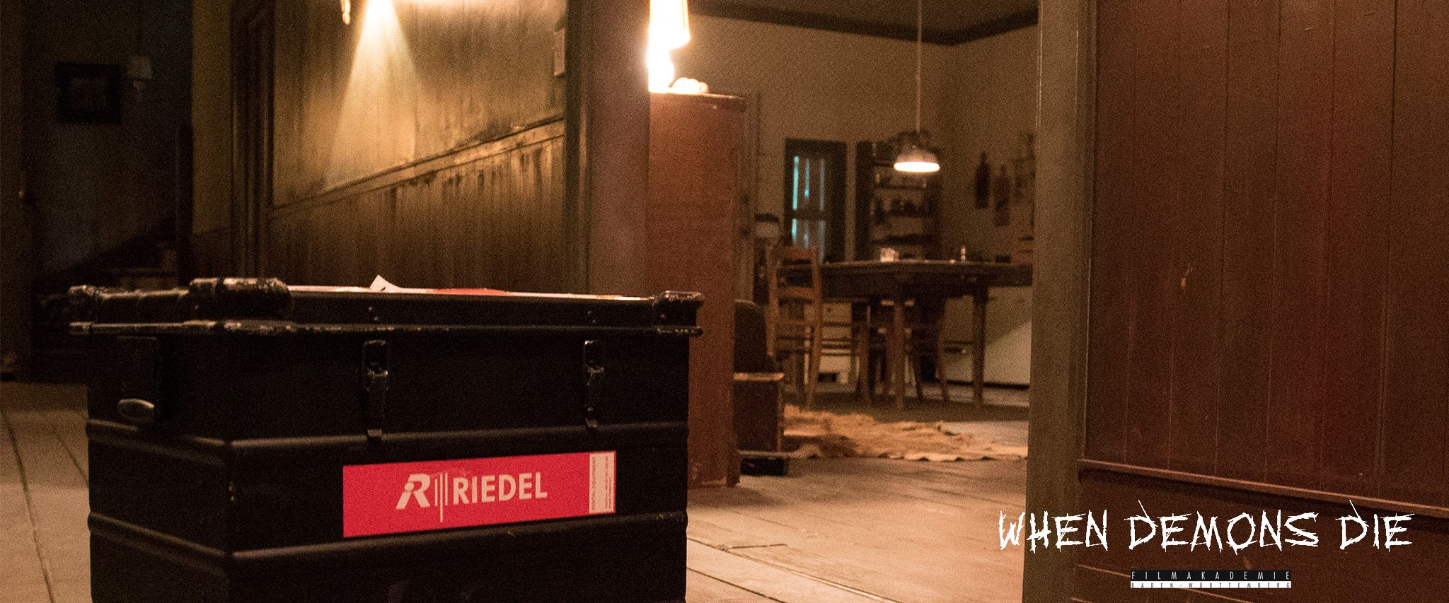 "#RIEDEL equipment on the set of ""When Demons Die""."