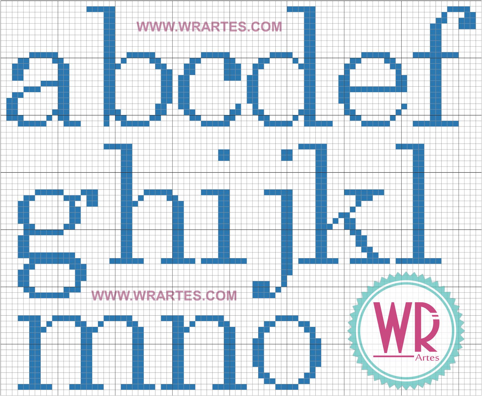 Blog do Wagner Reis: Alfabeto para Ponto Cruz iniciante e fácil ...