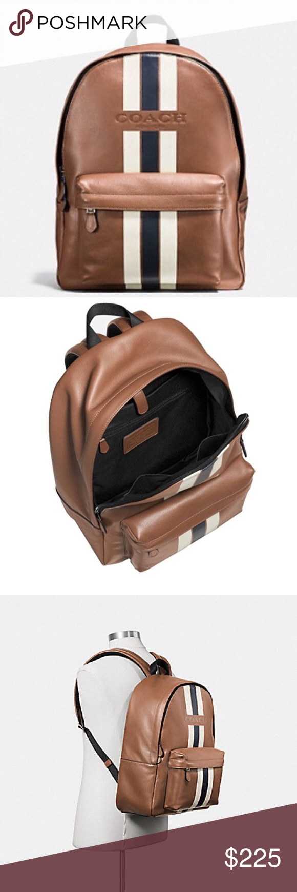 dc0385c39857 Coach Charles backpack in Varsity Leather Like new authentic Coach backpack  with varsity leather