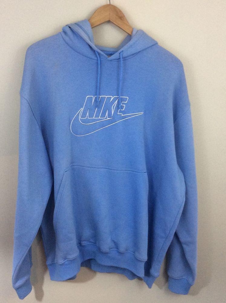 654d23a2af60 Mens Nike Size XXL Powder Blue Baby Blue Hoodie Embroidered Graphics  Sweatshirt  Nike  Hoodie